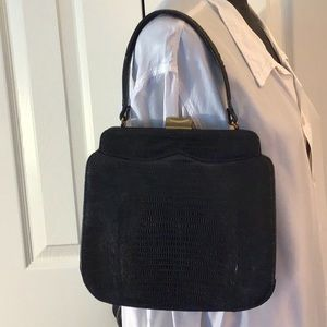 Palizzio lizard skin vintage purse mid century